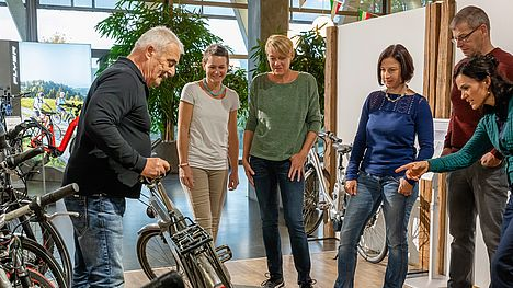 Get a taste of the air at the company FLYER including guided e-bike tour.